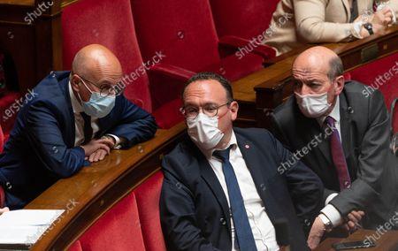 Eric Ciotti, Damien Abad and Michel Herbillon