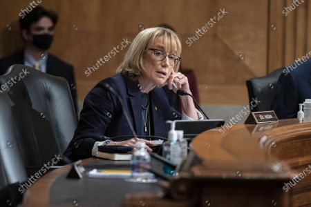 """United States Senator Maggie Hassan (Democrat of New Hampshire), questions witnesses during a Senate Homeland Security and Governmental Affairs Committee hearing in Washington, D.C., U.S.,. The hearing is titled """"Prevention, Response, and Recovery: Improving Federal Cybersecurity Post-SolarWinds."""""""
