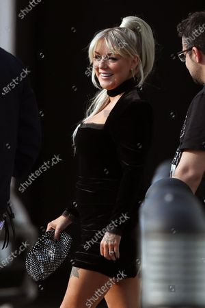 Sheridan Smith is seen departing a hotel to go to the BRIT Awards
