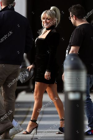 Stock Photo of Sheridan Smith is seen departing a hotel to go to the BRIT Awards