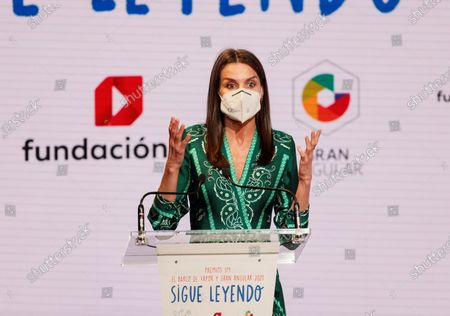 Queen Letizia attends 43rd edition of the SM Awards for Children's and Young Adult Literature 'El Barco de Vapor' and 'Gran Angular' at Casa America