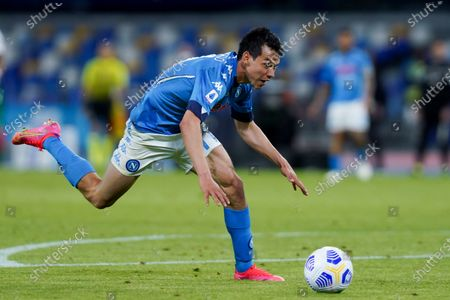 Hirving Lozano of SSC Napoli during the Serie A match between Napoli and Udinese at Stadio Diego Armando Maradona, Naples, Italy on 11 May 2021.