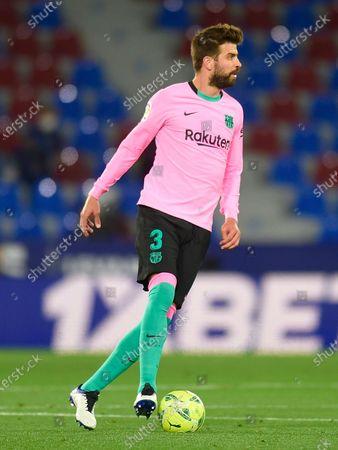 Stock Image of Gerard Pique of FC Barcelona