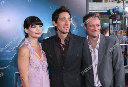 Delphine Chaneac, Adrien Brody and David Hewlett