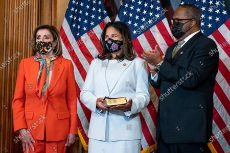 Editorial picture of Speaker of the United States House of Representatives Nancy Pelosi (Democrat of California) holds a ceremonial swearing-in for United States Representative-elect Troy Carter (Democrat of Louisiana), Washington, District of Columbia, USA - 11 May 2021