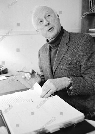 """Norman Lloyd, executive producer of Hollywood Theater, a series of high-class dramatic shows seen on affiliated stations on the Public Broadcasting Service, poses for a photo on Dec. 26, 1974, in Los Angeles. Lloyd, the distinguished stage and screen actor known for his role as a kindly doctor on TV's """"St. Elsewhere,"""" has died at 106. Manager Marion Rosenberg said the actor died, at his home in the Brentwood neighborhood of Los Angeles"""