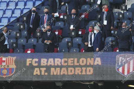 "Joan Laporta (Barcelona), Enrique Cerezo (Atletico) - Football / Soccer : Spanish ""La Liga Santander"" match between FC Barcelona 0-0 Atletico de Madrid at the Camp Nou stadium in Barcelona, Spain."