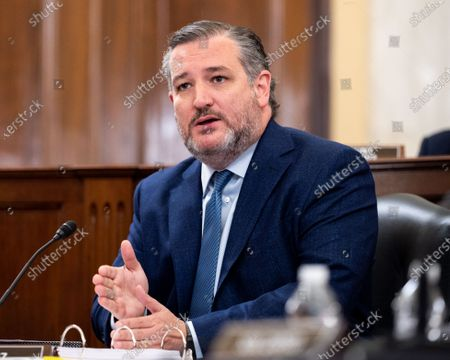 Stock Picture of U.S. Senator Ted Cruz (R-TX) speaks about the For the People Act at a hearing of the Senate Rules and Administration Committee.