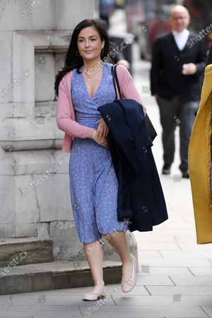 Editorial image of Rachel Riley at the Royal Courts of Justice, London, UK - 12 May 2021