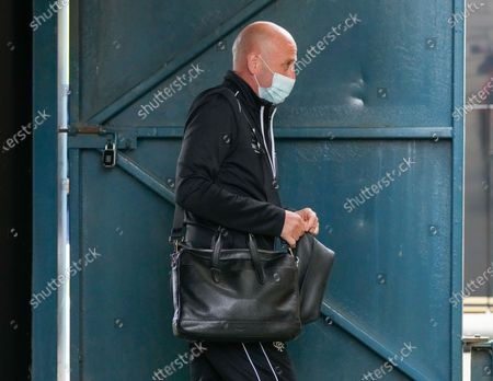 Rangers Assistant Manager Gary McAllister  arrives at the Tony Macaroni Arena