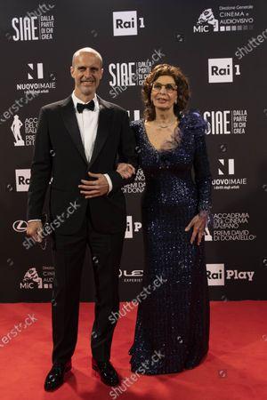 Director Edoardo Ponti, Sophia Loren