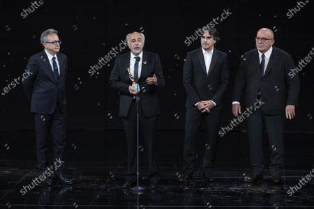 Stock Image of Giorgio Diritti winner David di Donatello Best film and direction with movie 'Volevo nascondermi'
