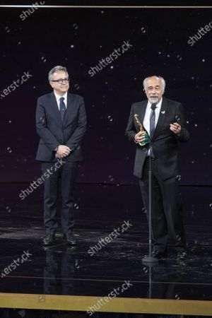 Giorgio Diritti winner David di Donatello Best film and best direction with movie 'Volevo nascondermi'