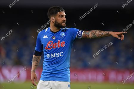 Lorenzo Insigne of SSC Napoli during the Serie A match between SSC Napoli and Udinese Calcio at Stadio Diego Armando Maradona Naples Italy on 11 May 2021.