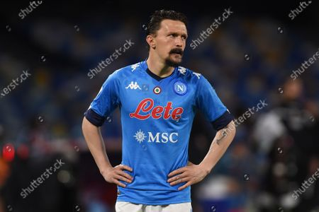 Stock Picture of Mario Rui of SSC Napoli during the Serie A match between SSC Napoli and Udinese Calcio at Stadio Diego Armando Maradona Naples Italy on 11 May 2021.