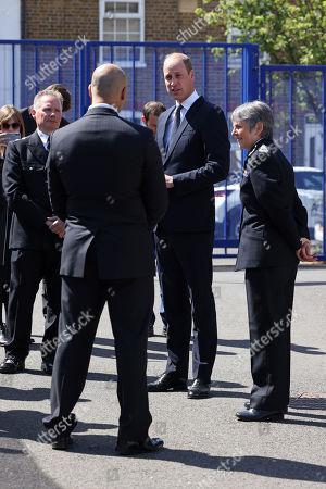 Editorial photo of Prince William visits Croydon Custody Centre, Croydon, UK - 12 May 2021