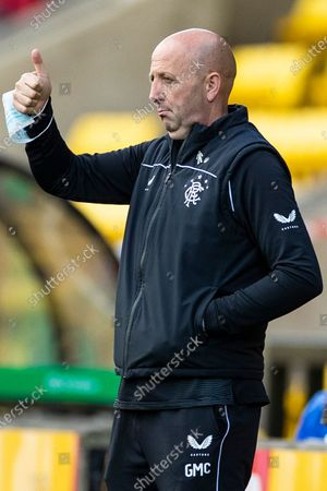 Rangers Assistant Manager Gary McAllister during the Scottish Premiership match at the Tony Macaroni Arena, Livingston.