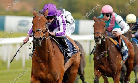 SNOWFALL (Ryan Moore) wins The Tattersalls Musidora Stakes York