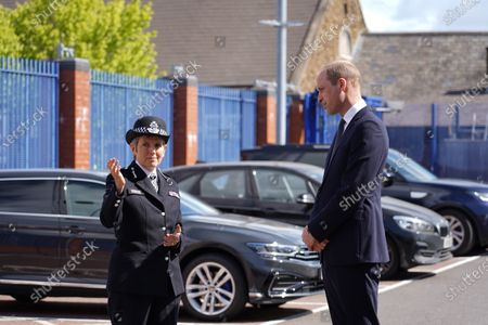 Commissioner Cressida Dick greets His Royal Highness Prince William. The Duke visited the Met's Croydon Custody Centre to pay his respects to Sergeant Matt Ratana, who was tragically shot and killed while on duty in September 2020.
