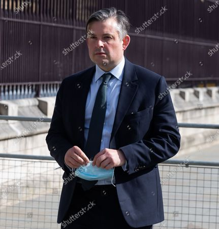 Stock Picture of Jonathan Ashworth departs Parliament on 11th May 2021 in London, UK, after the Queens Speech.