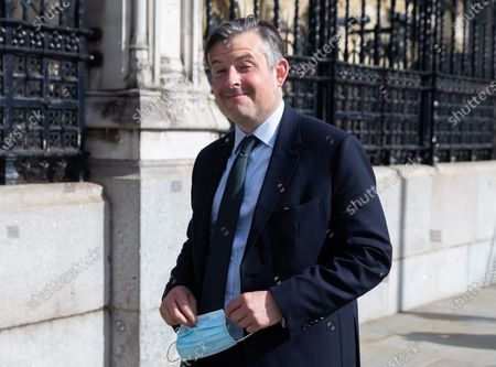 Jonathan Ashworth departs Parliament on 11th May 2021 in London, UK, after the Queens Speech.