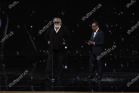 Diego Abatantuono and Carlo Conti