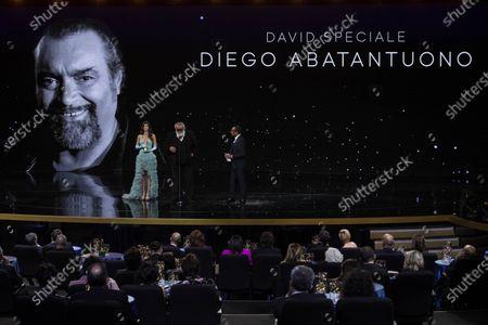 Stock Photo of Diego Abatantuono and Carlo Conti