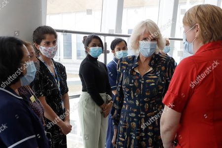 Editorial image of The Duchess of Cornwall visits The Whittington Hospital, London, UK - 12 May 2021