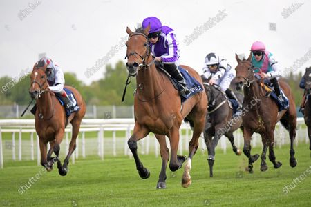 SNOWFALL with Ryan Moore wins Tattersalls Musidora Stakes at York