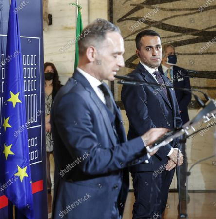 Editorial picture of German Foreign Minister visits Italy, Rome - 12 May 2021