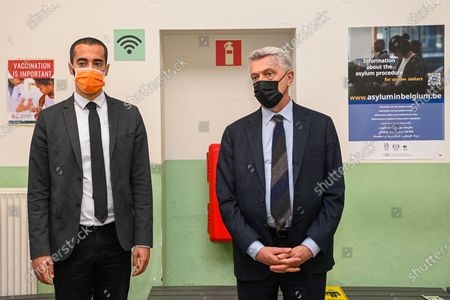 Editorial photo of Belgian State Secretary for Migration policy Sammy Mahdi visit the application center for asylum seekers, Brussels, Belgium - 12 May 2021