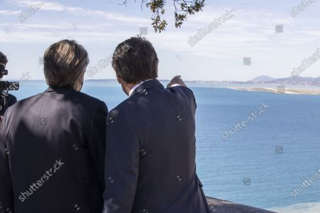 (G-D) Renaud Muselier (President of the Provence-Alpes-Cote d'Azur Region, President of Regions of France), Christian Estrosi (Mayor of Nice, President of Metropolis Nice Cote d'Azur, Delegate President of the Region Provence-Alpes-Cote d'Azur)