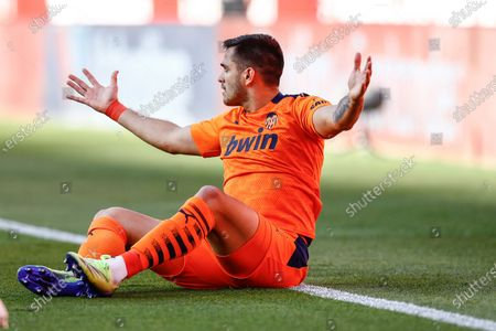 Stock Image of Maxi Gomez of Valencia CF