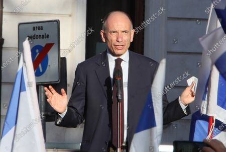 Demonstration by the Jewish Community of Rome in solidarity with the people of Israel against attacks by Palestinian terrorists. Enrico Letta Secretary of the Democratic Party