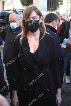 Demonstration by the Jewish Community of Rome in solidarity with the people of Israel against attacks by Palestinian terrorists. Maria Elena Boschi