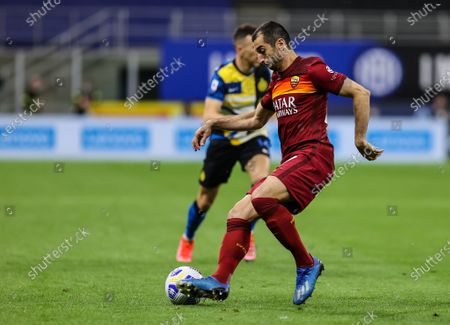 Henrikh Mkhitaryan of AS Roma in action