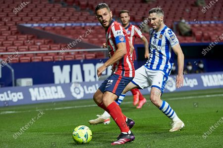 Editorial photo of Atletico de Madrid v Real Sociedad, LaLiga Santander, date 36. Football, Wanda Metropolitano Stadium, Madrid, Spain - 12 May 2021