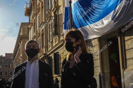 Vigil of solidarity for Israel. In the photo Maria Elena Boschi and Ivan Scalfarotto participate in the event