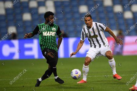 """Jeremie Boga (Sassuolo)Danilo Luiz da Silva (Juventus)           during the Italian """"Serie A"""" match between Sassuolo 1-3 Juventus at Mapei Stadium in Reggio Emilia, Italy."""