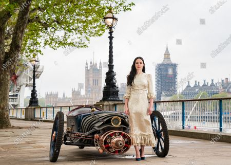 Cast of new Sky Atlantic show The Nevers, Laura Donnelly unveils a Victorian-style car, which is created and driven by Skelly's character Penance Adair in the show, at the launch of the drama on London's Southbank. The series tells the story of a supernatural event that rocks Victorian London and will be available from May 17 on Sky Atlantic and streaming service NOW.