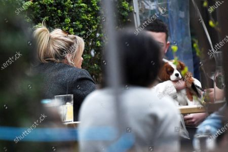Exclusive - Emily Atack at a pub with friends