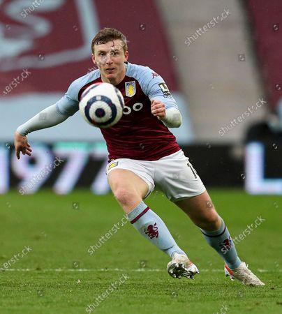 Football - 2020 / 2021 Premier League - Aston Villa vs Everton - Villa Park Matt Targett of Aston Villa