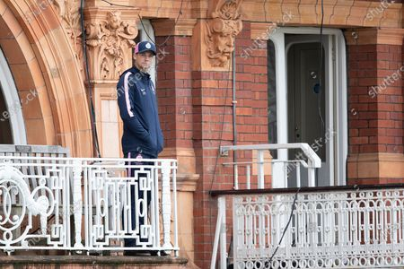 Peter Handscombe, Middlesex CCC looks on from the players balcony during Middlesex CCC vs Hampshire CCC, LV Insurance County Championship Group 2 Cricket at Lord's Cricket Ground on 13th May 2021
