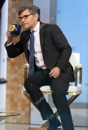 Stock Picture of George Stephanopoulos on the set of Good Morning America in New York City on May 12, 2021.