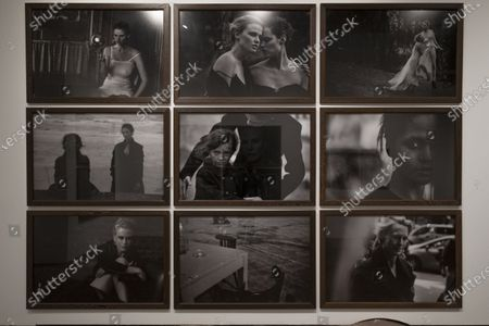 Stock Picture of Exhibition dedicated to Peter Lindbergh in the ARTiglieria Con/temporary Art Center in Turin. This exhibition, the result of the collaboration between Paratissima, the Peter Lindbergh foundation and the Kunstpalast of Dusseldorf, is a self-portrait and, at the same time, a great tribute to the master because it is a project wanted and curated by him personally before leaving us prematurely