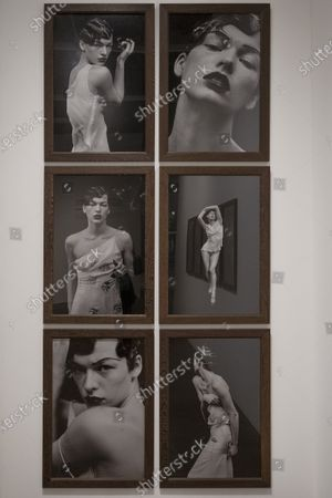 Stock Photo of Exhibition dedicated to Peter Lindbergh in the ARTiglieria Con/temporary Art Center in Turin. This exhibition, the result of the collaboration between Paratissima, the Peter Lindbergh foundation and the Kunstpalast of Dusseldorf, is a self-portrait and, at the same time, a great tribute to the master because it is a project wanted and curated by him personally before leaving us prematurely