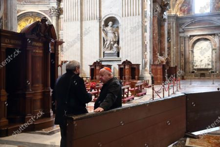 Holy Mass celebrated by Cardinal Stanislaw Dziwisz, private secretary of Karol Wojtyla, at the tomb of St. John Paul II in the chapel of St. Sebastian on the feast of Our Lady of Fatima which 40 years ago saved the Polish Pope from an attack in St.