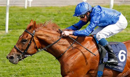 HURRICANE LANE (William Buick) wins The Al Basti Equiworld Dubai Dante Stakes York
