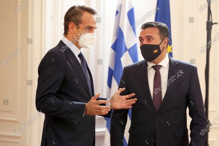 Editorial photo of Prime Minister of North Macedonia Zoran Zaev in Athens, Greece - 13 May 2021