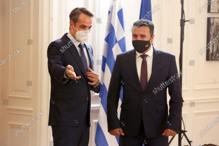 Editorial image of Prime Minister of North Macedonia Zoran Zaev in Athens, Greece - 13 May 2021